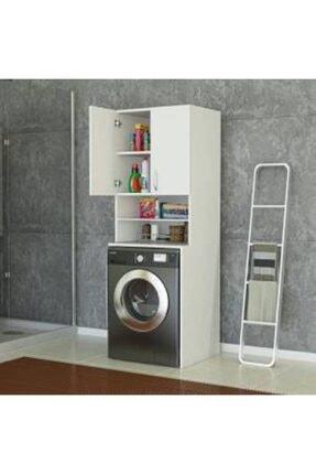 ARS GRUP MOBİLYA Ars Grup Çamaşır Makinesi Dolabı Banyo Dolabı Kapaklı Dolap Raflı Kapaklı.çamaır Makinesi Korumalığı 1
