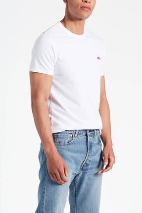 Levi's Erkek Beyaz Pamuklu T-Shirt 0