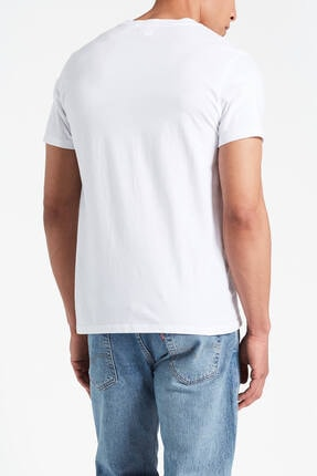 Levi's Erkek Beyaz Pamuklu T-Shirt 1