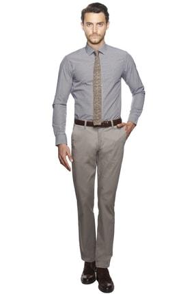 Altınyıldız Classics Erkek Mor-beyaz Slim Fit Desenli Gömlek 0