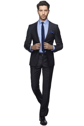 Picture of Erkek Antrasit Ekstra Slim Fit Spor Takım Elbise