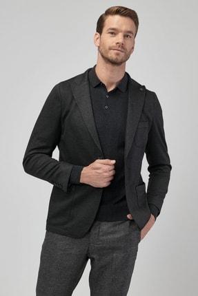 Altınyıldız Classics Erkek Antrasit Slim Fit Desenli Ceket 1
