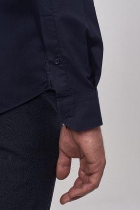 Altınyıldız Classics Erkek Koyu Lacivert Tailored Slim Fit Klasik Gömlek 3