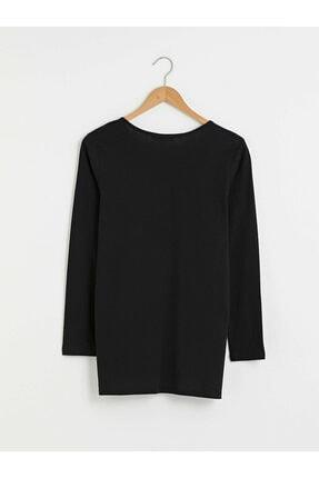 LC Waikiki Kadın Yeni Siyah Tişört 1