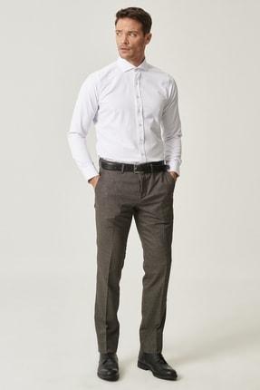 Altınyıldız Classics Erkek Kahverengi Slim Fit Desenli Pantolon 1