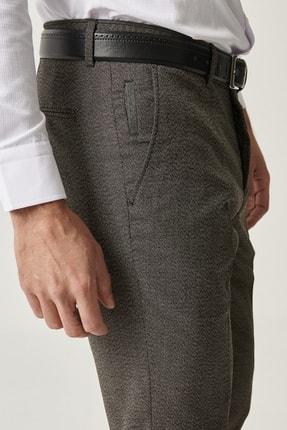 Altınyıldız Classics Erkek Kahverengi Slim Fit Desenli Pantolon 2
