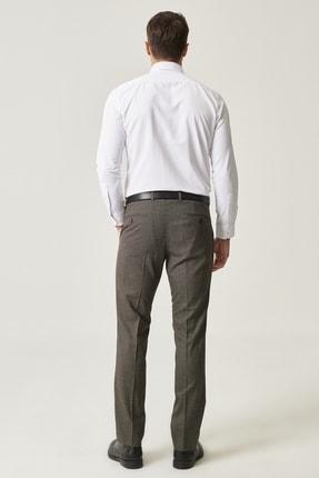 Altınyıldız Classics Erkek Kahverengi Slim Fit Desenli Pantolon 3