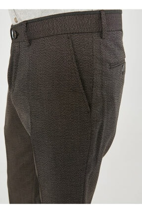 Altınyıldız Classics Erkek Kahverengi Slim Fit Desenli Pantolon 4