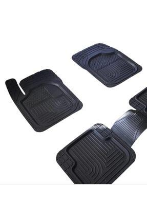 Universal 3d Havuzlu Paspas Siyah 5 Parça Üniversal Tüm Araçlar Için Uyumlu 1