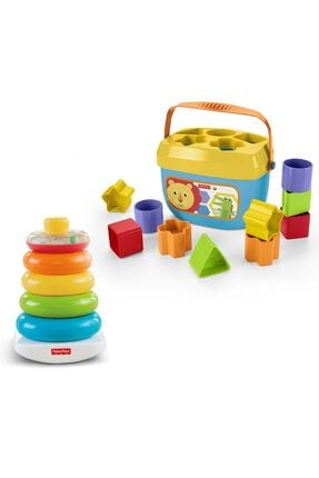 """Fisher Price Renkli Halkalar® & """"renkli Bloklar® Eğitici Ve Eğlenceli Oyuncak Seti 0"""