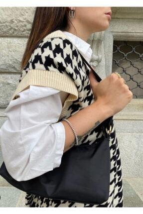 Somut istanbul Kadın Beyaz V Yaka Süveter 2
