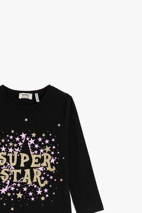 Koton Siyah Kız Çocuk T-Shirt 2