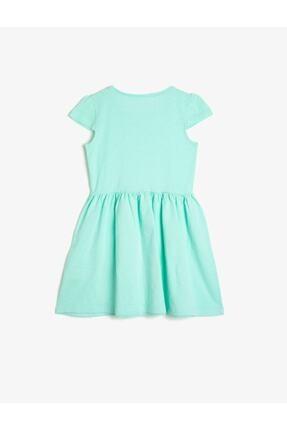 Koton Kız Çocuk Yeşil Bisiklet Yaka Elbise 1