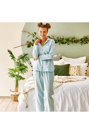 Bella Maison %100 Pamuk Olive Açık Yeşil Pijama Altı 3