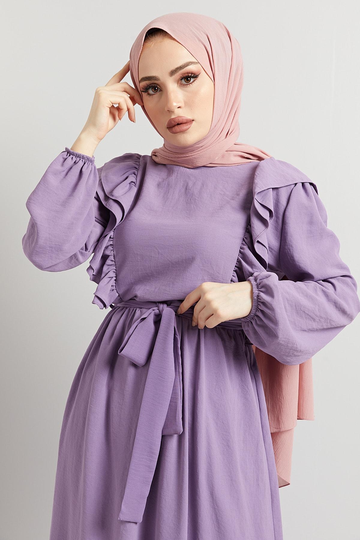 Airobin Fırfırlı Yazlık Tam Boy Uzun Sultan Elbise