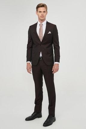 Altınyıldız Classics Erkek Bordo Slim Fit Desenli Nano Takım Elbise 0