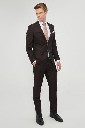 Altınyıldız Classics Erkek Bordo Slim Fit Desenli Nano Takım Elbise 1