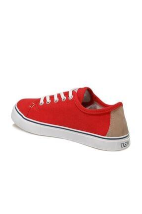 US Polo Assn TOGA 1FX Kırmızı Kadın Havuz Taban Sneaker 100918943 3