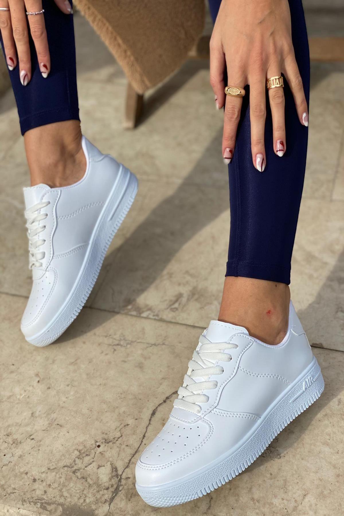 Unisex Beyaz Spor Ayakkabı&Sneaker INA100