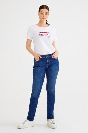 تصویر از Kadın Lacivert Boru Paça Pantolon