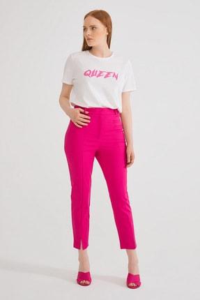 Kadın Fusya Fleto Cepli Pantolon resmi