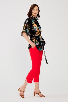 تصویر از Kadın Coral Beli Lastikli Pantolon