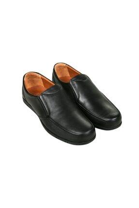 Polaris Erkek Siyah Hakiki Deri Casual Ayakkabı 2
