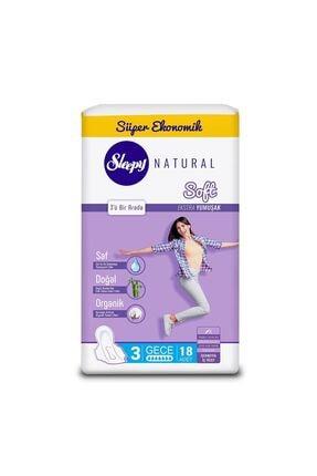 Sleepy Natural Soft Ekstra Yumuşak Gece(18 Ped) 1