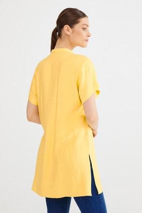 Love My Body Kadın Lime Hakim Yaka Yırtmaçlı Tunik 3