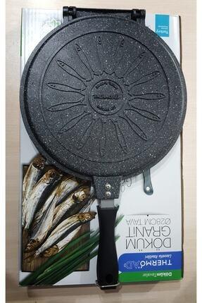 ThermoAD Alüminyum Döküm Granit Çift Taraflı Balık Tavası 28 Cm 1