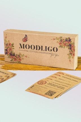 Moodligo Fine Cotton Kadın Basic Slip Külot 6'lı Kutu-2 Siyah 2 Ten 2 Beyaz 4