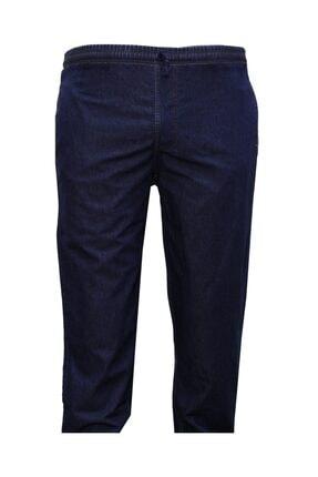 Lifeguard Erkek Buyuk Beden Beli Lastikli Kot Pantolon/mavi 0
