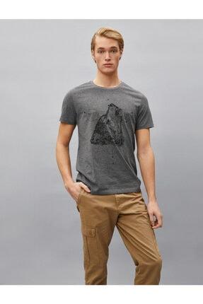 Koton Erkek T-shirt Antrasit 1yam11781dk 1