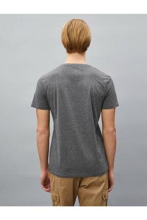 Koton Erkek T-shirt Antrasit 1yam11781dk 3