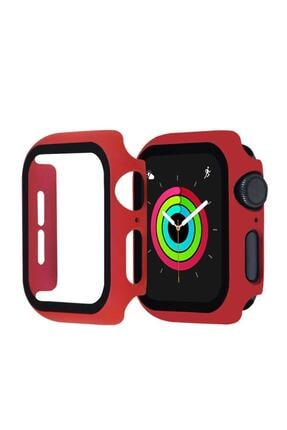 KVK PRİVACY Apple Watch Kırmızı Silikon Kılıf 42mm Tam Koruma Apple Watch 1 2 3 4 5 6 Se 0