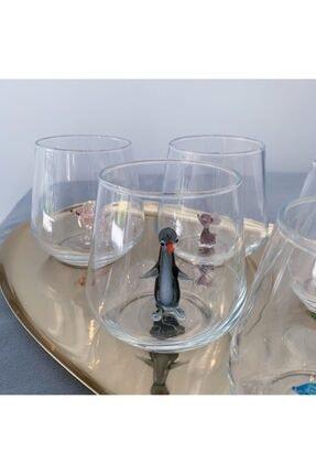 Minizooistanbul Full Renk El Yapımı Cam Hayvan Figürlü 6'lı Su Bardağı Seti 2