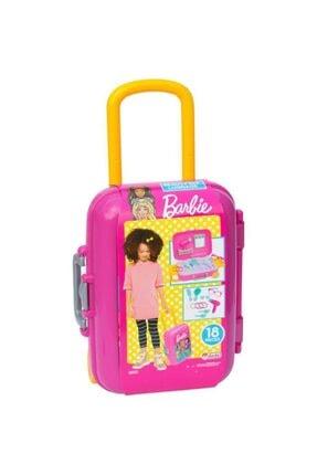 Depomiks Avm Barbie Oyuncak Güzellik Set Bavulum + Sürülebilir Çocuk 3'lü Çilek Makyaj Seti Depomiks 3