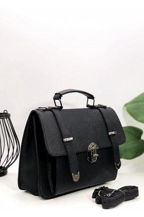 Rimense Kadın Siyah Toka Detaylı Çanta 0