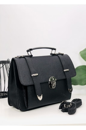 Rimense Kadın Siyah Toka Detaylı Çanta 2