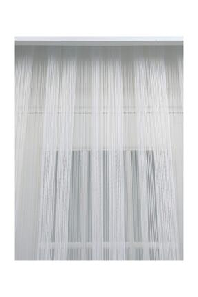 Esse Home Düz Çizgili Örme Tül Perde, Normal Pile, 1/2.5 250x250 cm 1