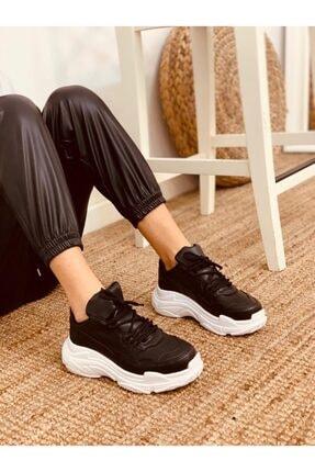 Siyah Beyaz (tiger) Spor Ayakkabı Kadın Sneakers ERV1158