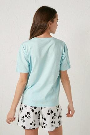 LC Waikiki Mickey Mouse Kadın Mavi G2P Pijama Takımı 4