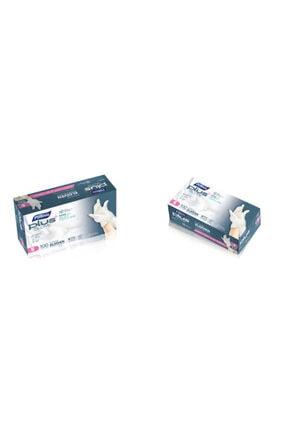 Polmix Plus Glove Şeffaf Pudrasız Eldiven Nano Tech 100'lü Paket M-l (POŞET ELDİVEN) 2