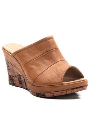 Zeynep Sıradağlı Kadın Dolgu Topuk Sandalet Taba 2