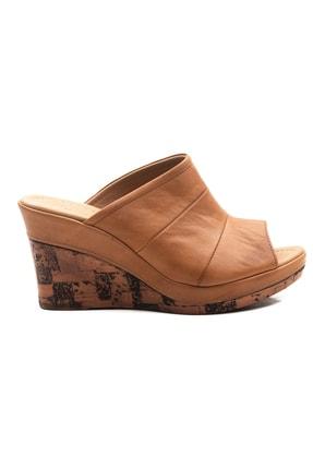 Zeynep Sıradağlı Kadın Dolgu Topuk Sandalet Taba 3