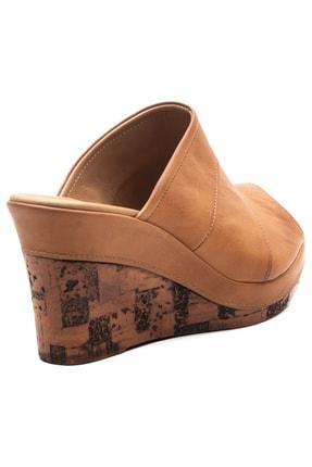 Zeynep Sıradağlı Kadın Dolgu Topuk Sandalet Taba 4