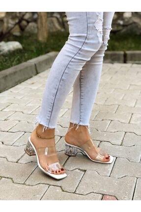 BZC AYAKKABI Kadın Şeffaf Bant Ve Topuk Detay Topuklu Ayakkabı 0
