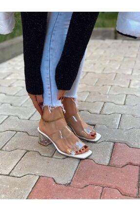 BZC AYAKKABI Kadın Şeffaf Bant Ve Topuk Detay Topuklu Ayakkabı 1