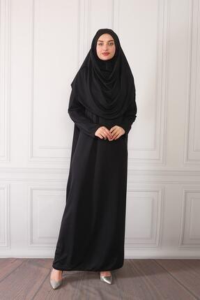 ASLINUR GİYİM Kadın Siyah Namaz Elbisesi Na545maz475825 0