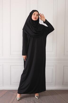 ASLINUR GİYİM Kadın Siyah Namaz Elbisesi Na545maz475825 2